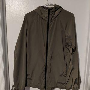 Theory Bryn nylon zip up hoodie